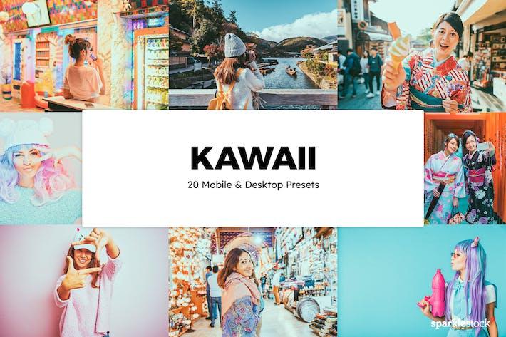 20 пресетов и LUT Kawaii Lightroom