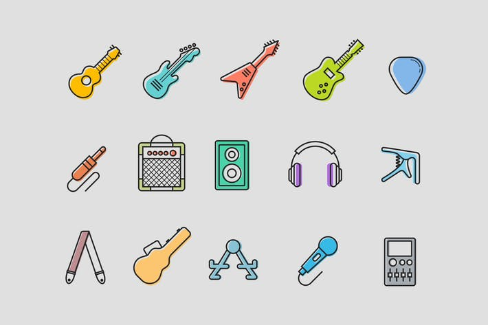 Thumbnail for 15 Guitar Icons