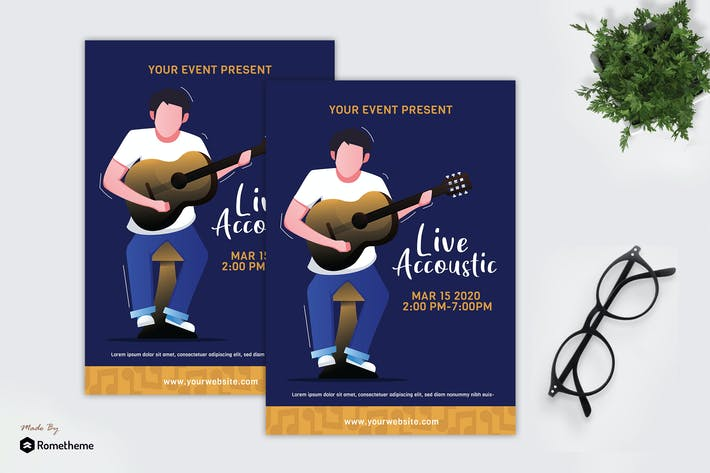 Thumbnail for Live Accoustic - Creative dépliant GR