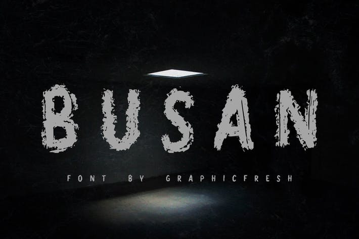 Thumbnail for Busan - The Horror Brush Font