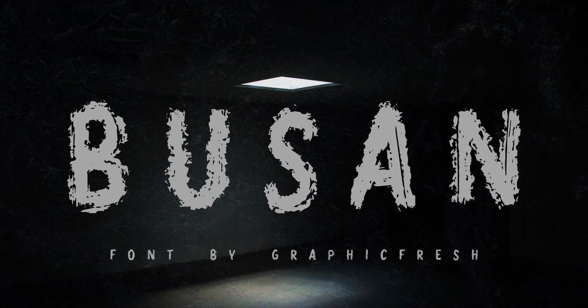 Download Busan - The Horror Brush Font by Graphicfresh