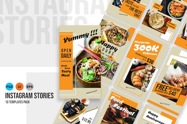 Delicious – Food Instagram Stories Template