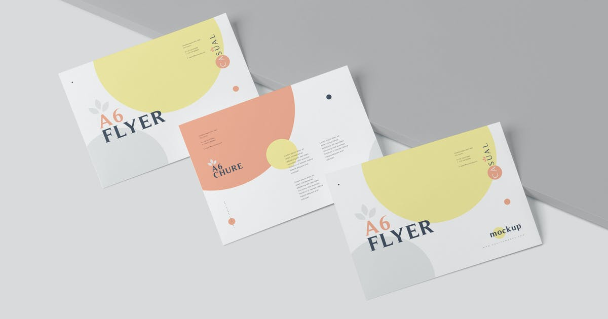 Download A6 Single Page Flyer Mockups by GfxFoundry