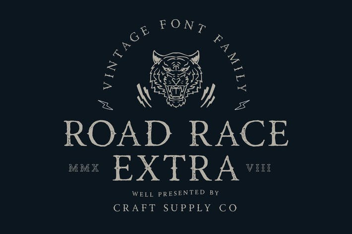 Thumbnail for Road Race Extra Font Family