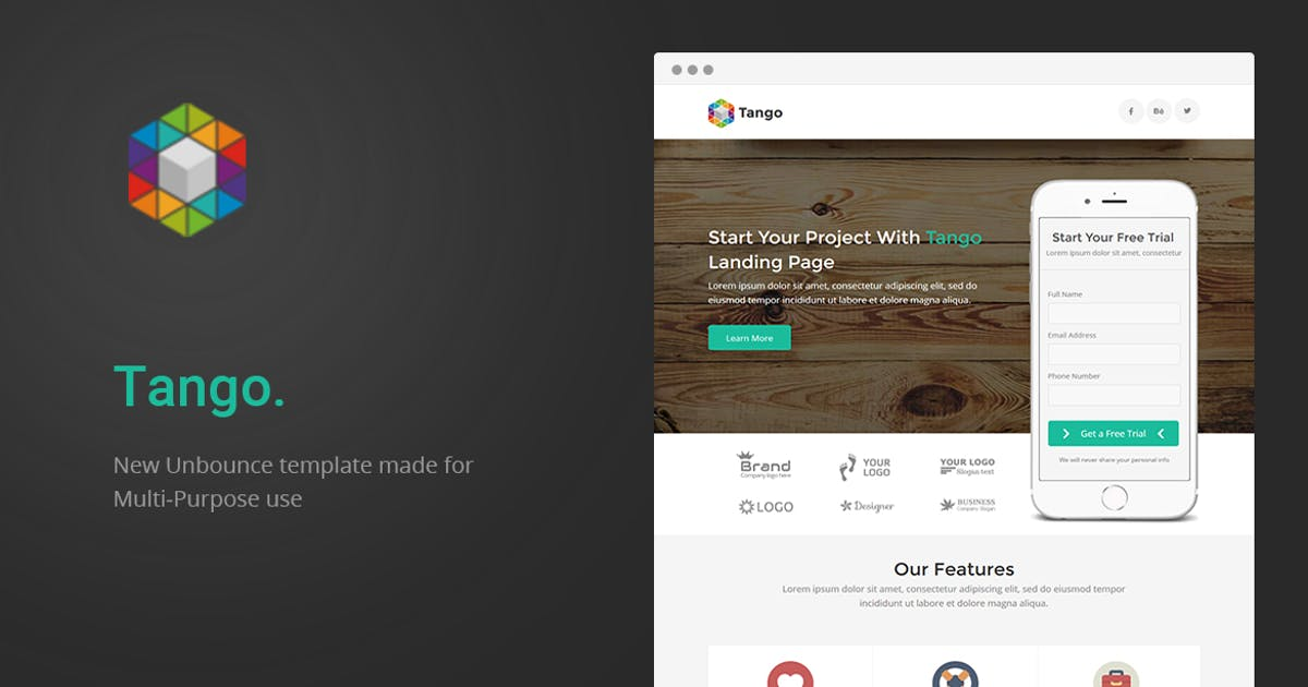Download Tango - Multi-Purpose Unbounce Landing Page by ExplicitConcepts