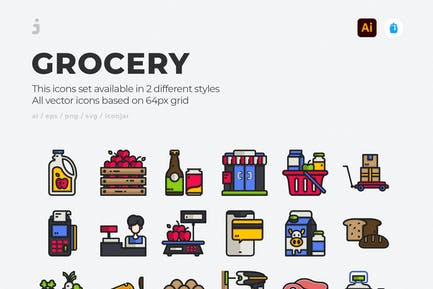 30 Grocery Icons