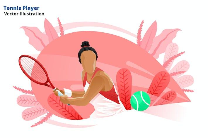Tennisspieler - Vektor Illustration