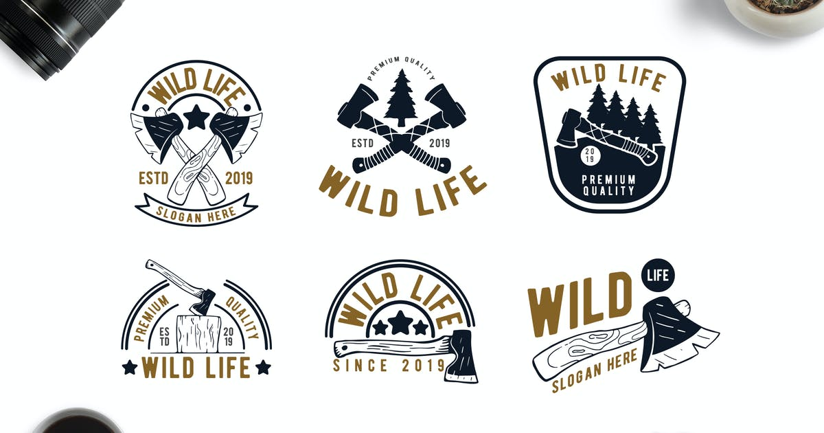 Download Retro Style Forrest Adventure and WIldlife Badges by Suhandi