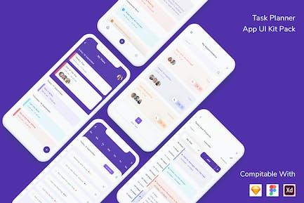 Task Planner App UI Kit Pack