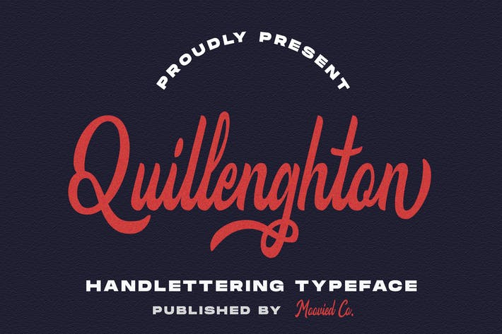 Cover Image For Quillenghton Typeface