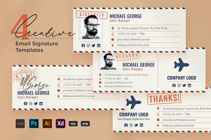 Thumbnail for Creative Email Signature V06 - Style de messagerie aérienne