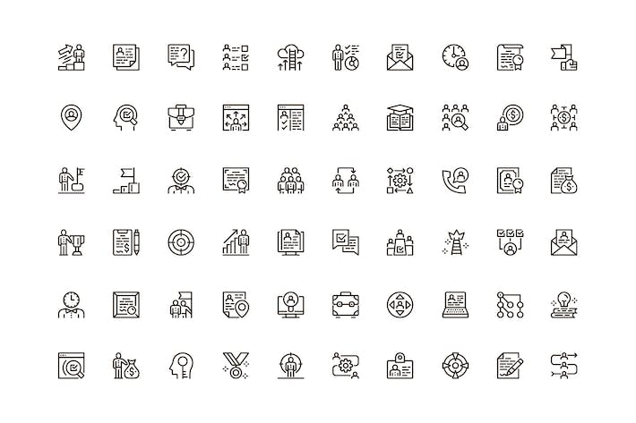 Headhunting Unique Web Line Icons Pack