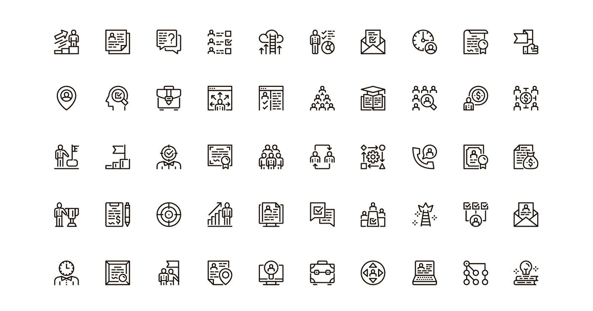 Download Headhunting Unique Web Line Icons Pack by alexdndz