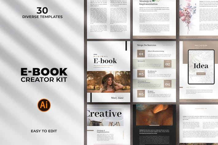 Thumbnail for Minimal Ebook Templates For Illustrator