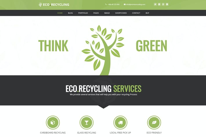 Thumbnail for Eco Recycling - Ecology & Nature WordPress Theme