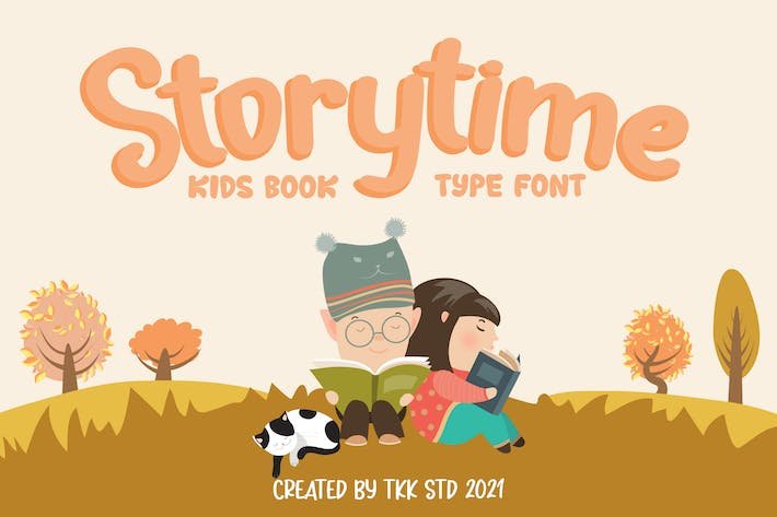 Storytime - Kids book font