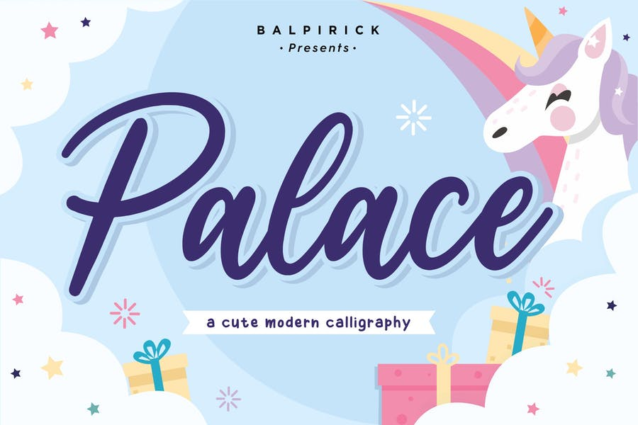 Palace Calligraphy Font YH