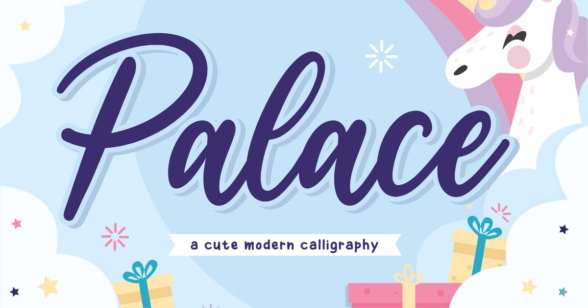 Download Palace YH - Bold Calligraphy Font by GranzCreative