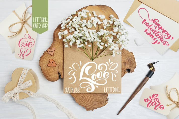 Thumbnail for Valentine's Day lettering photo overlays