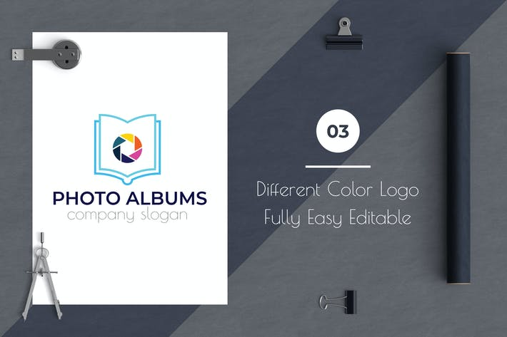 Thumbnail for Photo Albums Modern Logo Template