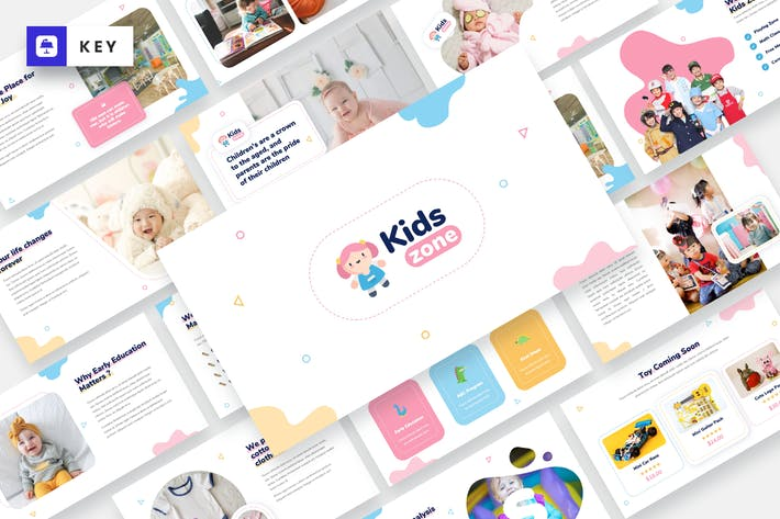 Thumbnail for Kids Zone - Kids & Baby Keynote Template