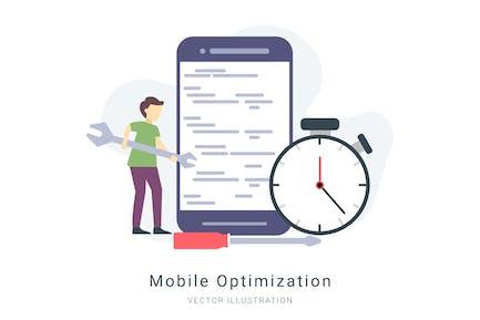 Mobile Optimization Vector Illustration