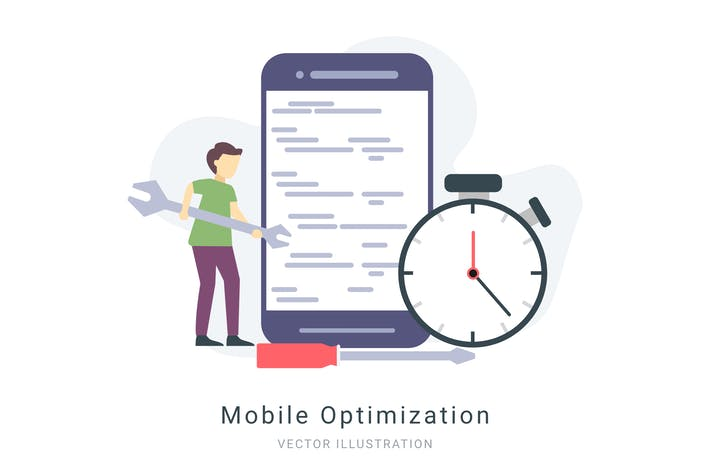 Thumbnail for Mobile Optimization Vector Illustration