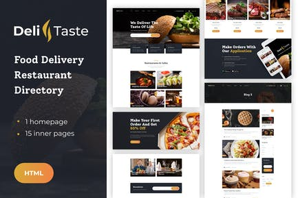 DeliTaste - Food Delivery HTML Template