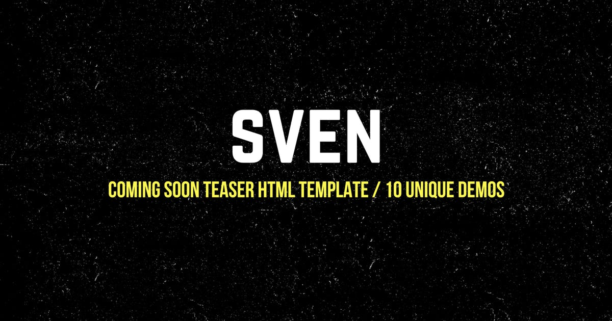 Download Coming Soon Teaser HTML Template | 10 Unique Demos by svencreations