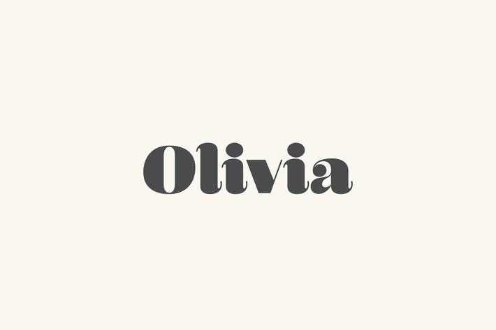 Thumbnail for Olivia - A Curvy Typeface