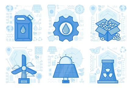 Nuclear Energy UI UX Illustrations