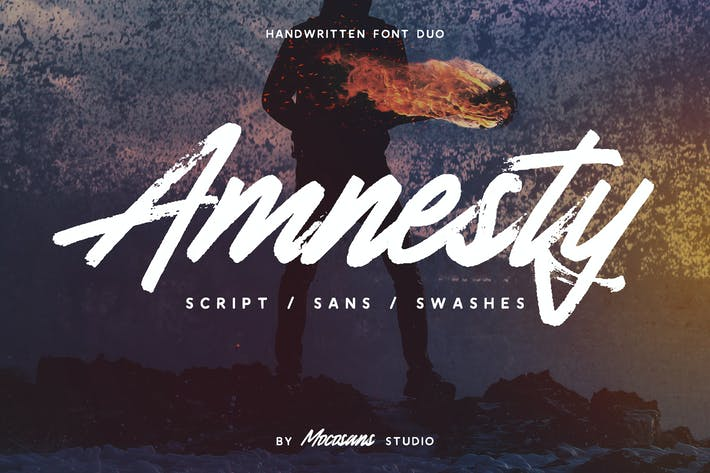 Thumbnail for Amnesty - Handwritten Font Duo