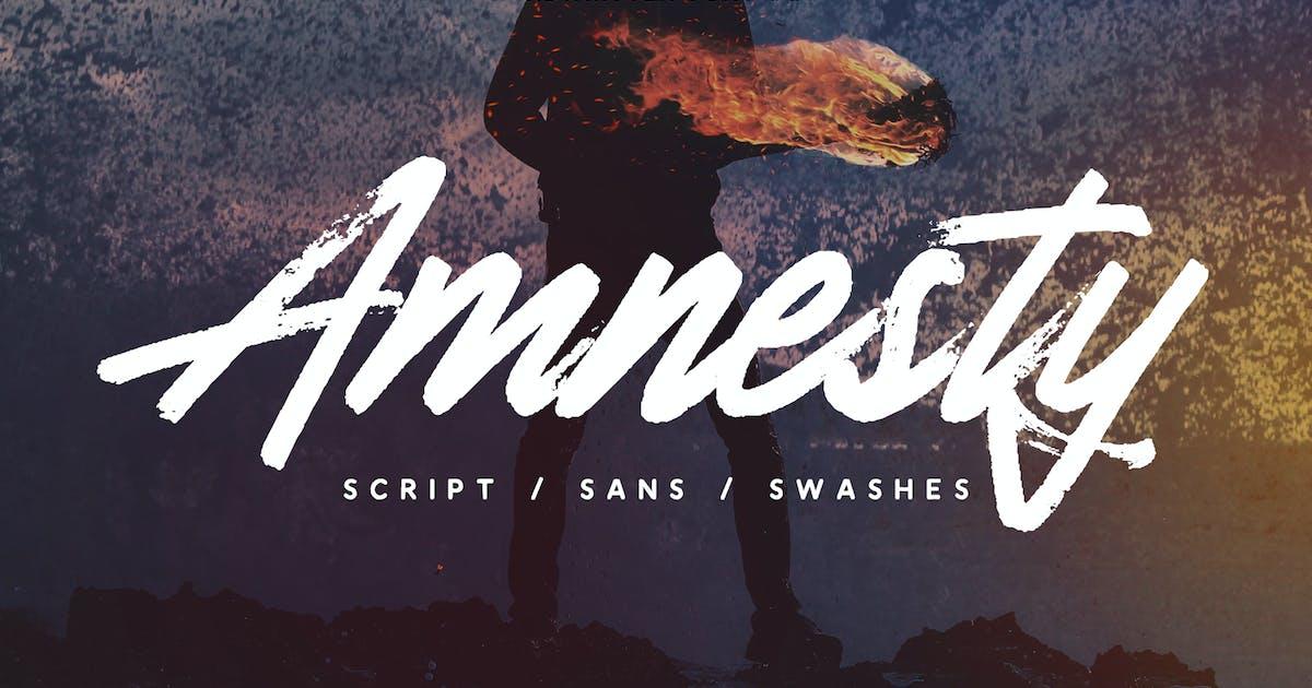 Download Amnesty - Handwritten Font Duo by Slidehack