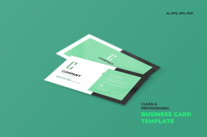 Cover Image For Clean & Professional Business Card Template