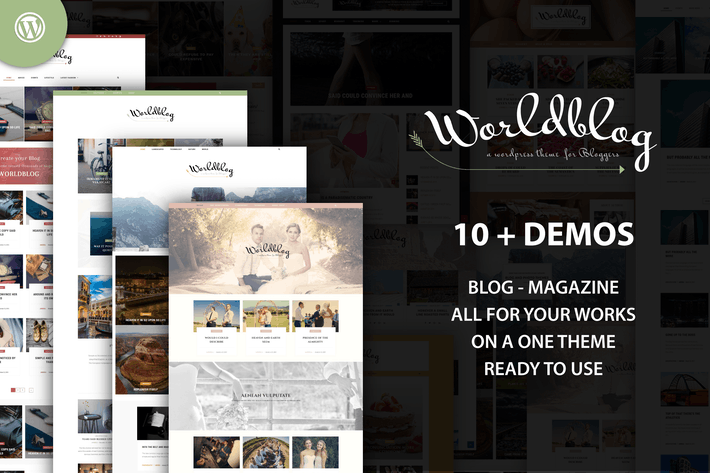 Thumbnail for Worldblog - WordPress Blog and Magazine Theme