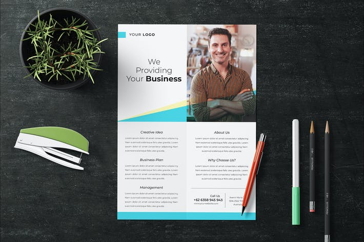 Thumbnail for Simple Corporate Flyer Template