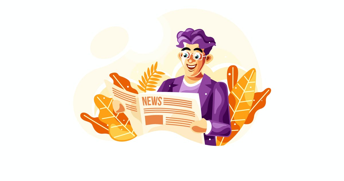 Download Reading Newspaper Vector Illustration by IanMikraz