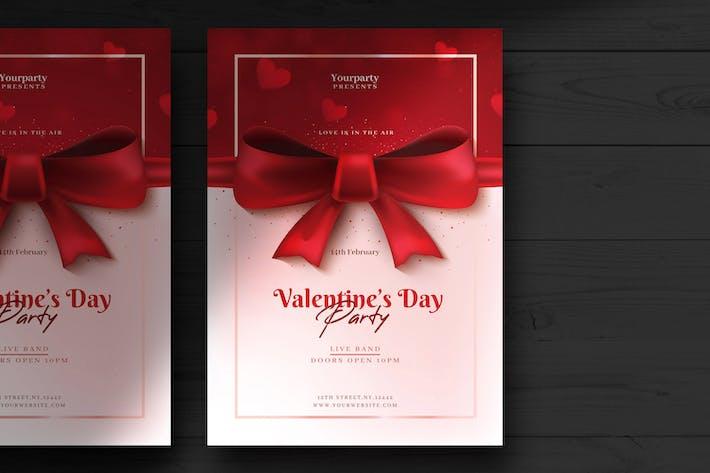Thumbnail for Valentinstag Flyer Vorlage
