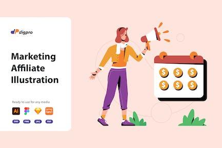 DIgpro - Marketing Affiliate Illustration