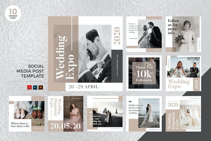 Thumbnail for Wedding Planner Social Media Kit PSD & AI