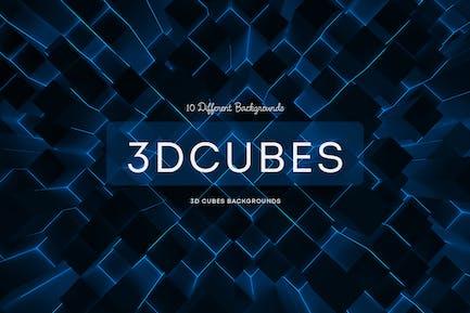 3D Cubes Backgrounds