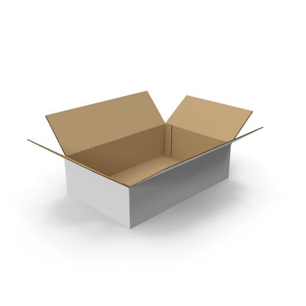 Картонная коробка открыта
