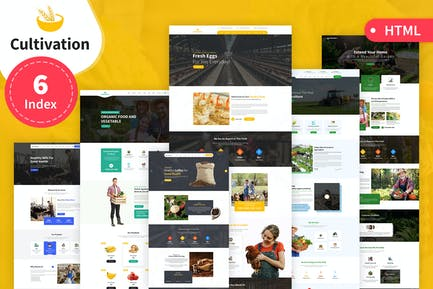Cultivation Multipurpose Responsive HTML Template