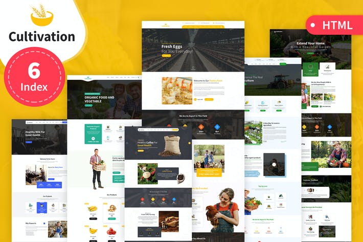 Thumbnail for Cultivation Multipurpose Responsive HTML Template