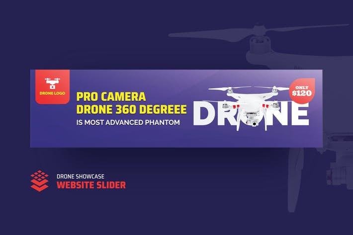 Thumbnail for Drone Product Showcase Website Slider