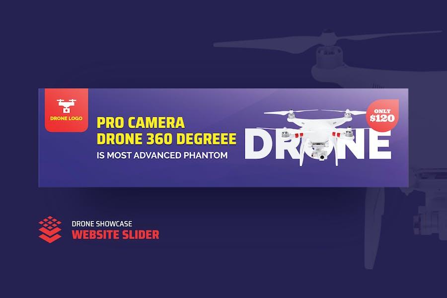 Drone Product Showcase Website Slider