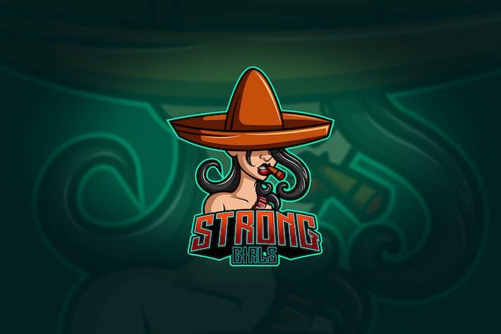 Thumbnail for Strong Girl - Mascot & Esport Logo