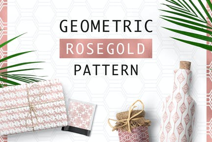 Geometrisches Rosegold Muster