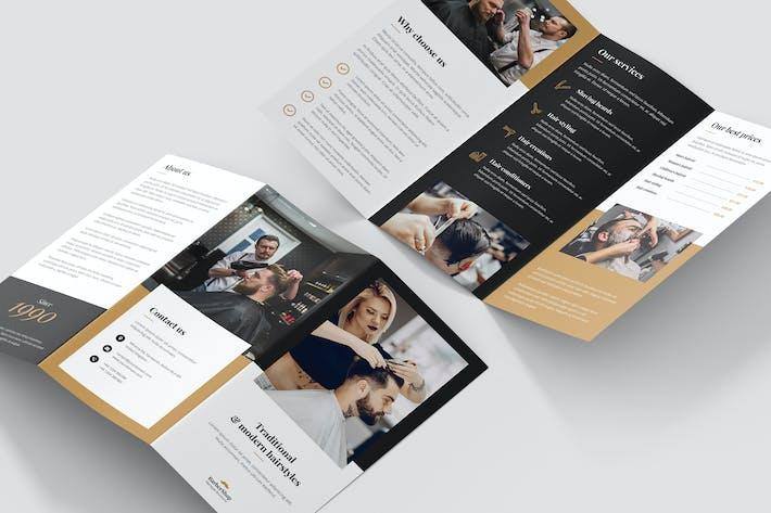 Thumbnail for Brochure – Barber Shop Tri-Fold