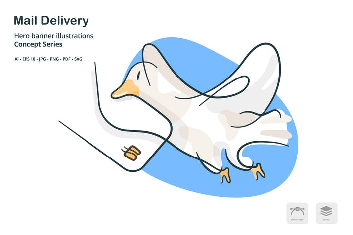 Thumbnail for Mail Delivery Vector Illustration